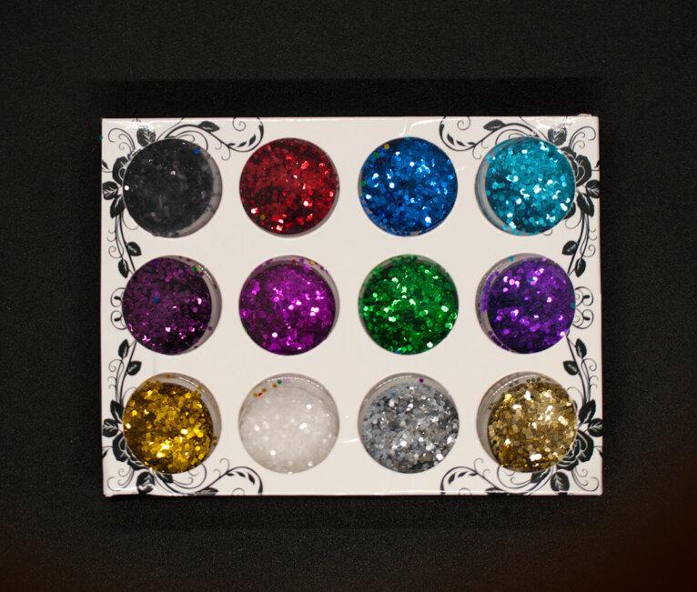Glitterpulbri komplekt