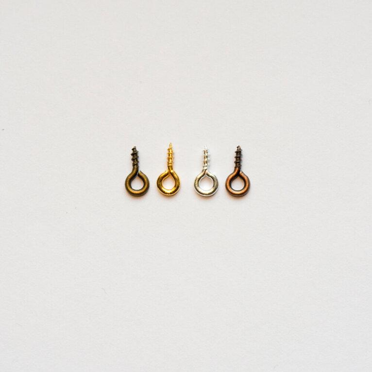 Kruvikinnitus. Kuld, hõbe, pronks ja rose pronks, 5tk