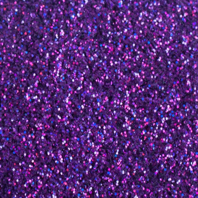 Lilla glitterpulber