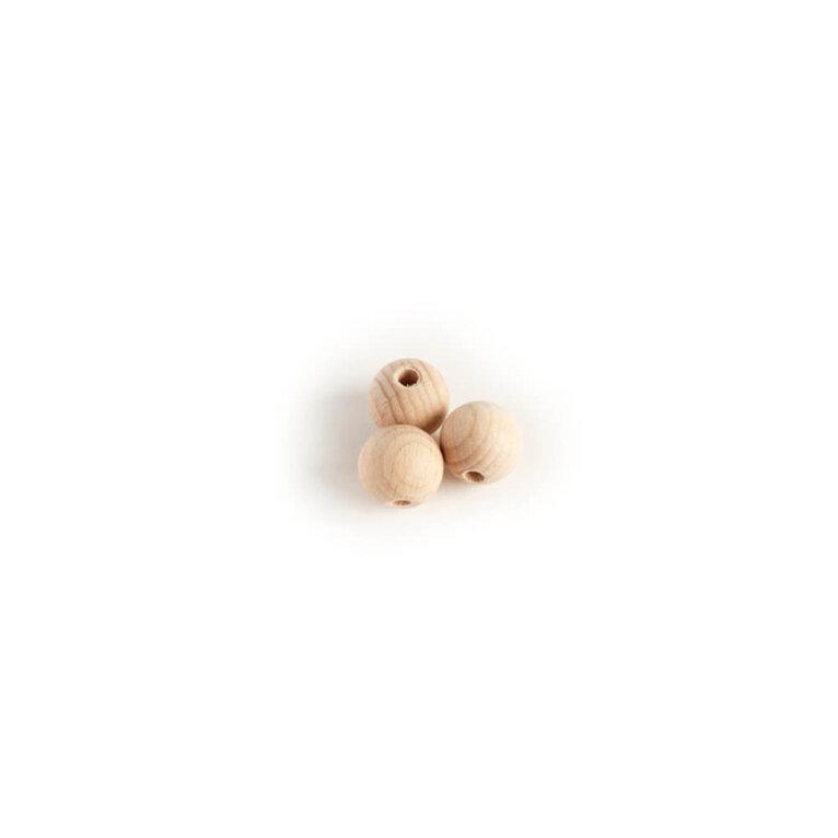 Puust pärlid, 15mm