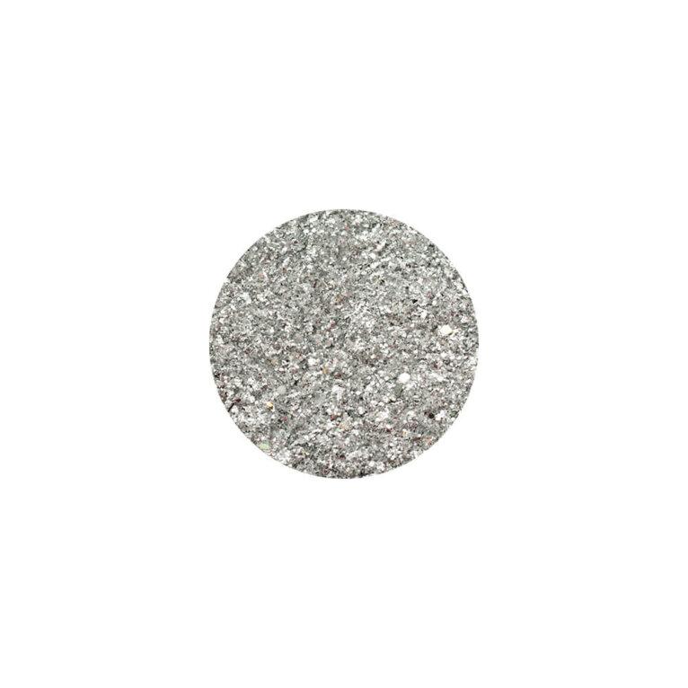 Glitter, sädelev pulber, hõbe