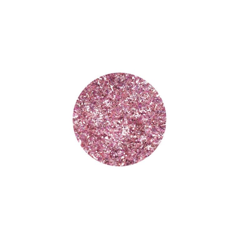 Glitter, sädelev pulber, hõberoosa
