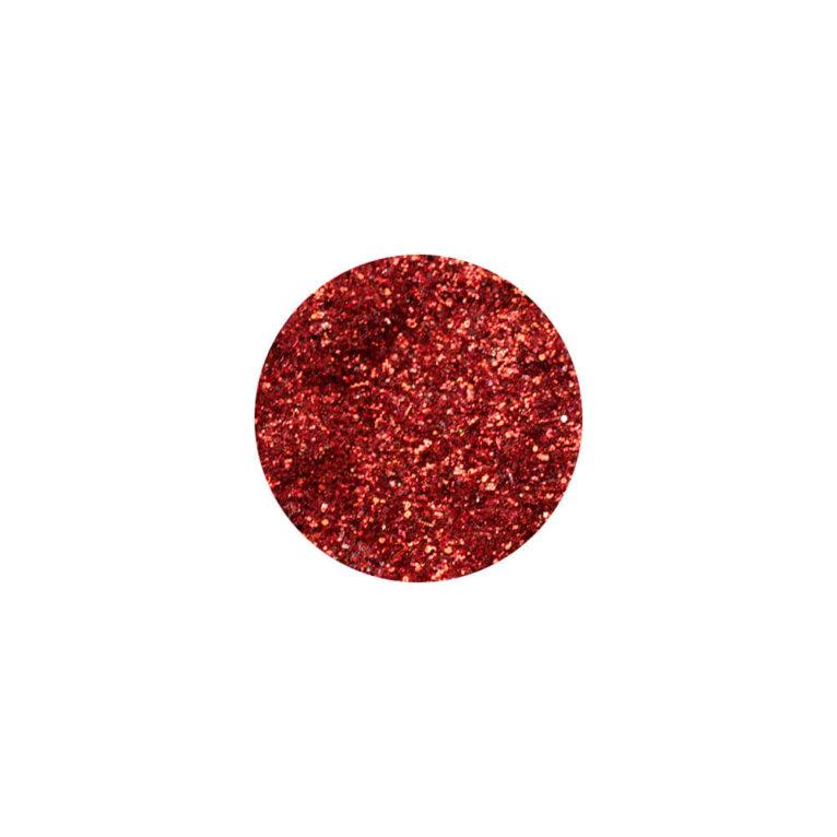 Glitter, sädelev pulber,  erkpunane