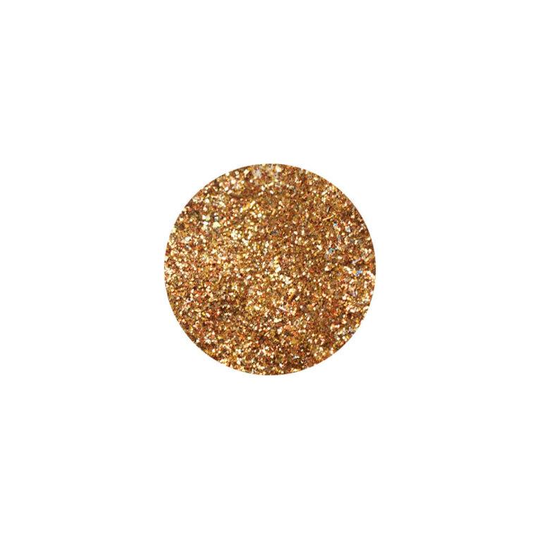 Glitter, sädelev pulber, punakaskuldne