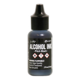 Tim Holtz® Alcohol Ink Pitch Black, must alkoholitint
