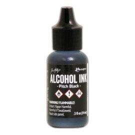 Tim Holtz® Alcohol Ink Pitch Black, must alkoholitint