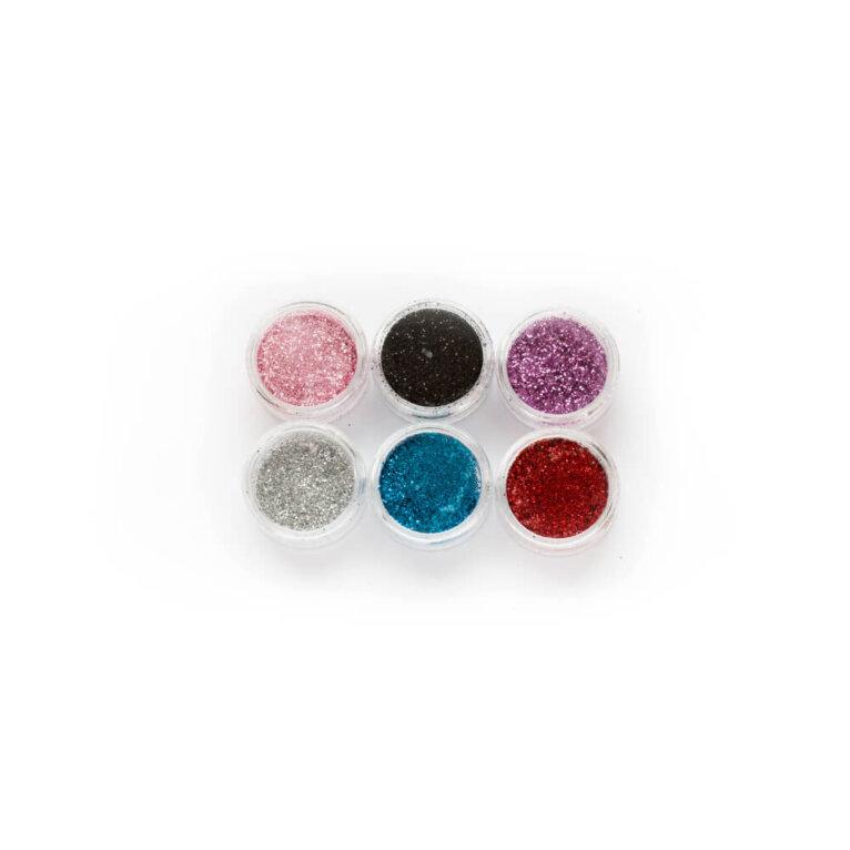 Glitter värvide komplekt, 6 tk (kopeeri)