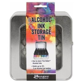 Tim Holtz® Alcohol Ink Storage Tin, alkoholitintide hoiustamise karp