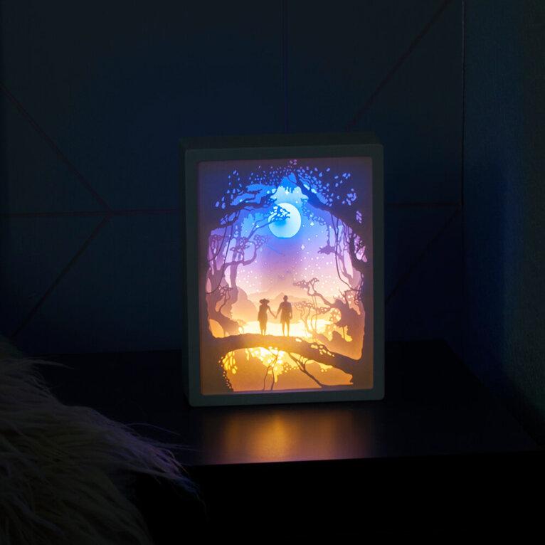 Dekoratiivne 3D öölamp, jalutajad