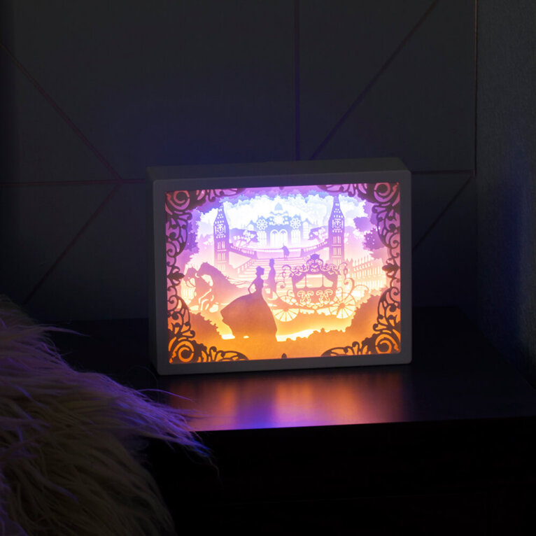 Dekoratiivne 3D öölamp, printsess