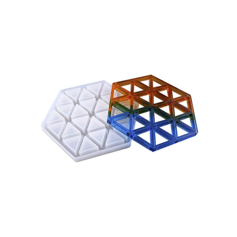 Geomeetriline, kolmnurkadega silikoonvorm