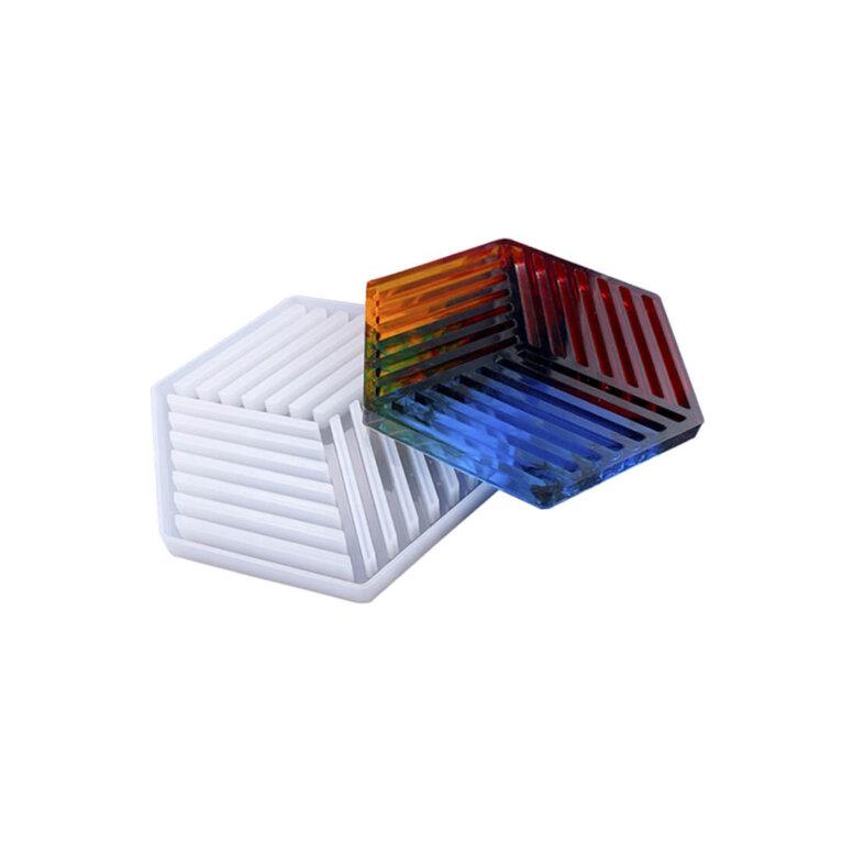 Geomeetriline, triipudega silikoonvorm