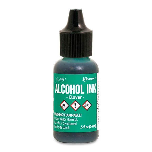 Tim Holtz® Alcohol Ink Clover, roheline alkoholitint
