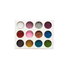 Glitterpulbrite komplekt, 12 erinevat värvi