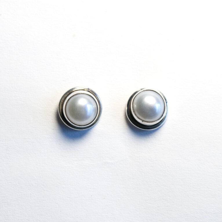 Pärliga hõbedast kõrvarõngad, 7 mm