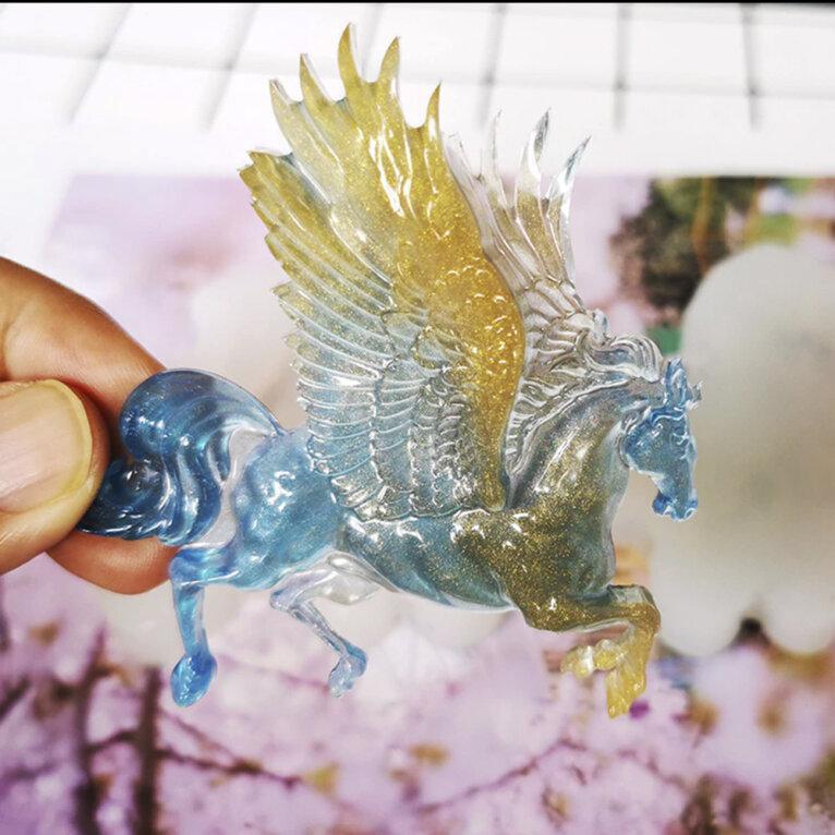 Silikoonvorm Pegasus hobuse valamiseks
