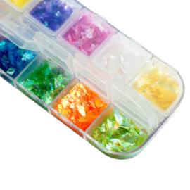 Glitterhelveste komplekt, 12 erinevat värvi
