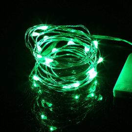 LED valgustraat patareidega, erinevad värvid, 2m – roheline