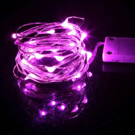 LED valgustraat patareidega, erinevad värvid, 2m – Roosa