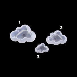Silikoonvorm 3D pilve kujutis, erinevad suurused – 1