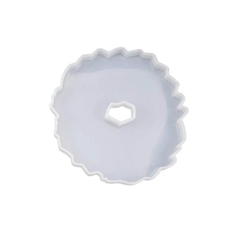 Silikoonvorm ebakorrapärase kujundi valamiseks. 13 x 12,5 cm
