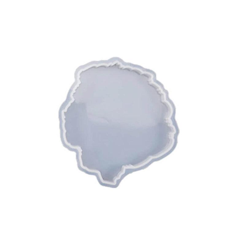 Erikujuline silikoonvorm tassi- ja klaasialuse valamiseks, 10,5 x 10,2 cm