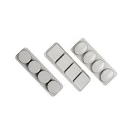 Silikoonvorm, ring/ovaal/ristkülik, 4 tk