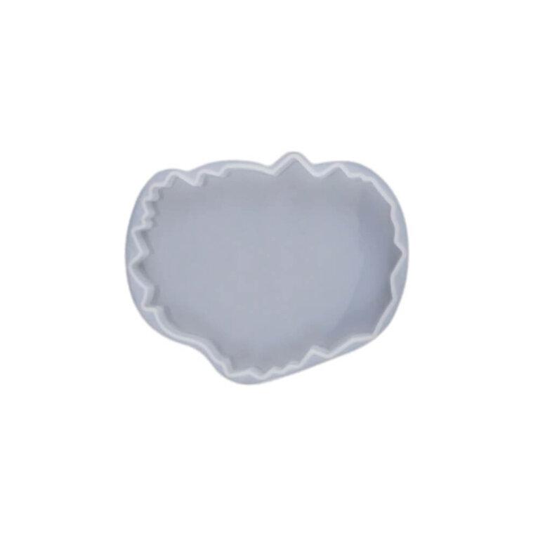 Silikoonvorm tassi või klaasialuse valamiseks, ebakorrapärane, 12,6 x 10 cm