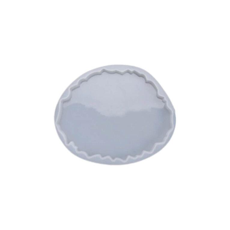 Silikoonvorm tassi või klaasialuse valamiseks, ebakorrapärane, 13,5 x 11,2 cm