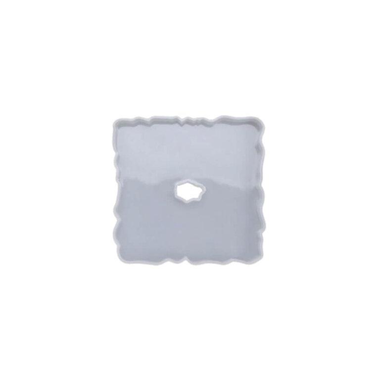 Silikoonvorm tassi- või klaasialuse valamiseks, ruut, 12 x 12 cm