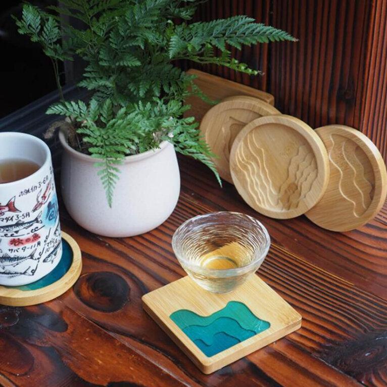Bambusest toorik aluse valamiseks, ring ja ruut