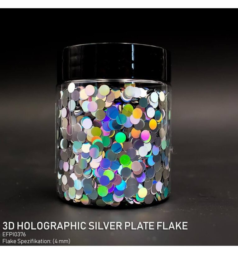 DIPON®-3D Helbed, Holographic Silver Plate