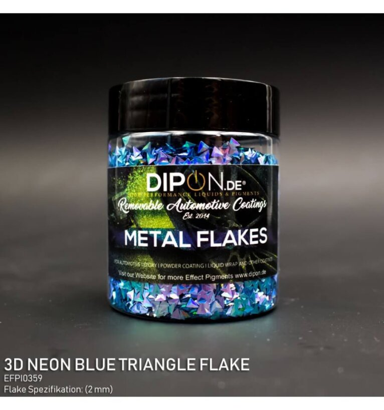 DIPON®-3D Helbed, Neon Blue Triangle
