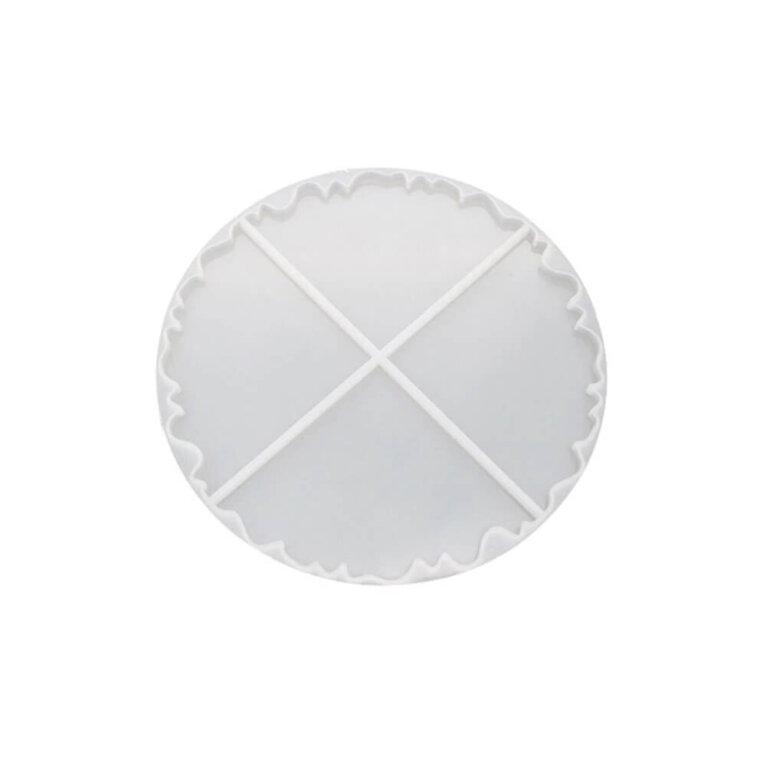 Ebakorrapärane ring, tassi- ja klaasialuste valamise silikoonvorm, 21 cm