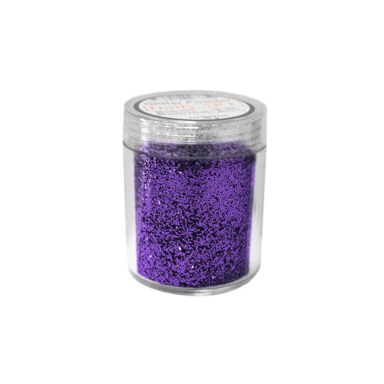Glitterpulberter, Aubergine, lilla, 15g