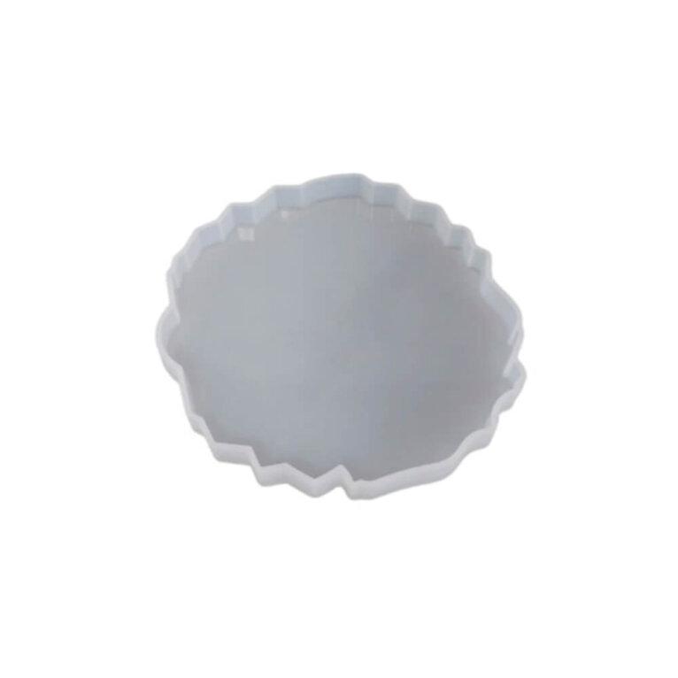 Silikoonvorm tassi või klaasialuse valamiseks, ebakorrapärane, 13,2 x 12,5 cm