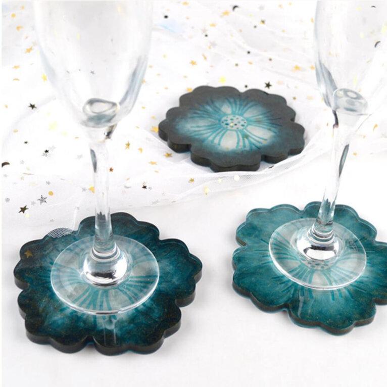 Silikoonvorm tassi või klaasialuse valamiseks, lillekujuline, 12 cm