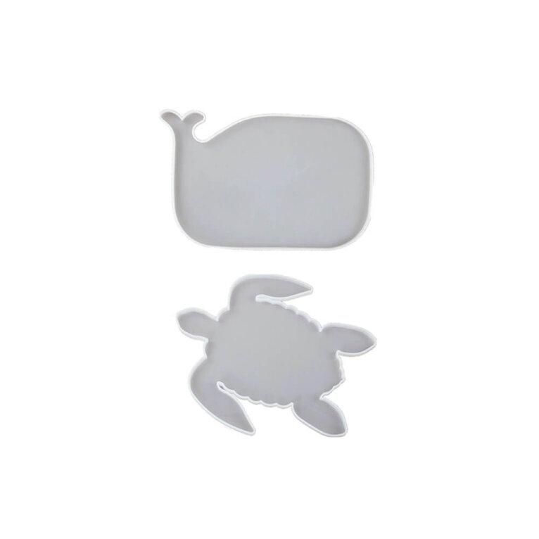 Kandiku või aluse valamise silikoonvormid. Vaala ja kilpkonna kujuline