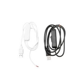 Lüliti ja USB-otsaga juhe, 1 m , must ja valge