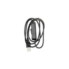 Lüliti ja USB-otsaga juhe, 1 m , must ja valge – Must, 1 m