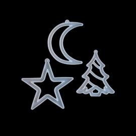 Jõuluehete valamise vormid. Täht, jõulukuusk ja kuu