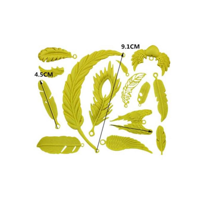 Ripatsite silikoonvorm, erinevad suled