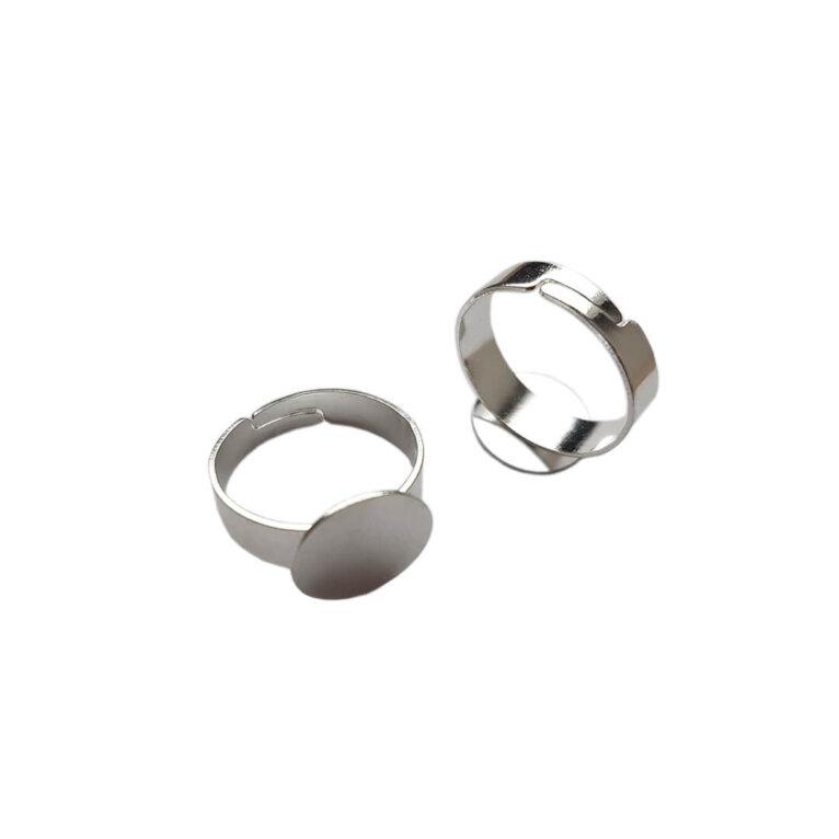 Sõrmuse toorik, reguleeritav, hõbedane
