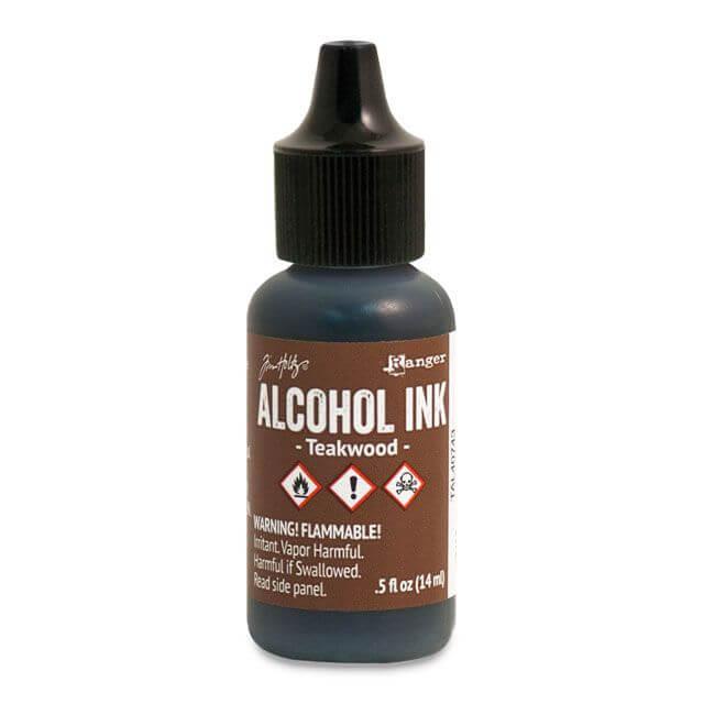 Tim Holtz® Alcohol Ink Teakwood, pruun alkoholitint