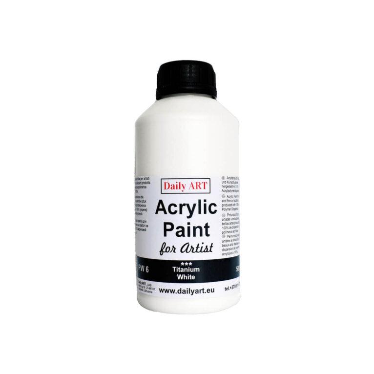 Akrüülvärv,Daily ART, Titanium White