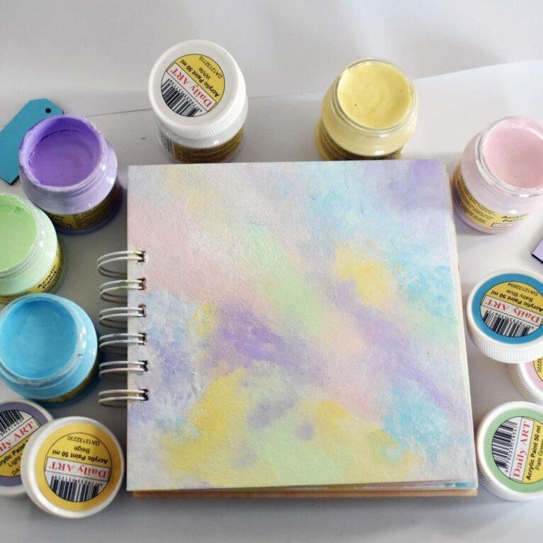 Akrüülvärvide komplekt, Daily ART, pastelsed toonid, 6 x 50ml