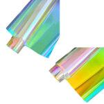 Käsitööpaber, hologrammi efektiga, läbipaistev, 100 x 20 cm