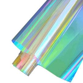 Käsitööpaber, hologrammi efektiga, läbipaistev, 100 x 20 cm – Sinine