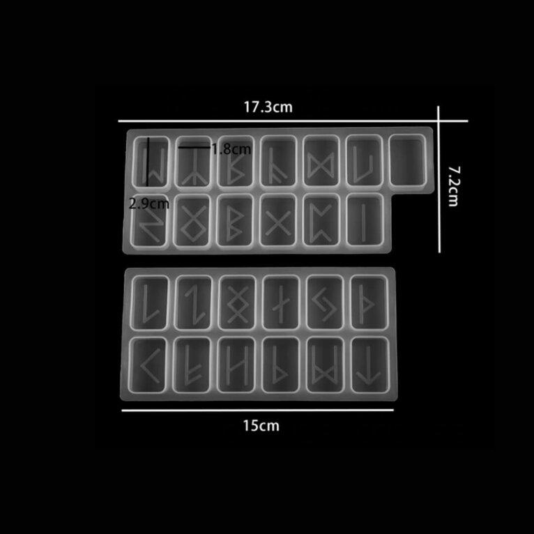 Silikoonvorm ruunimärkide valamiseks