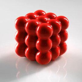 3D ruubiku kuubik silikoonvorm, 6 tk